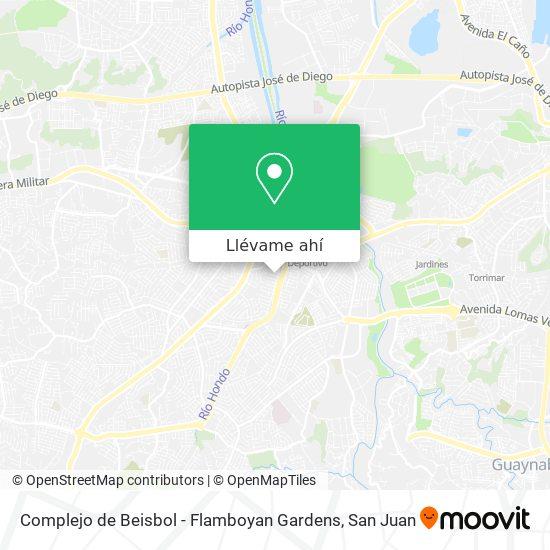 Mapa de Complejo de Beisbol - Flamboyan Gardens