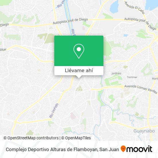 Mapa de Complejo Deportivo Alturas de Flamboyan