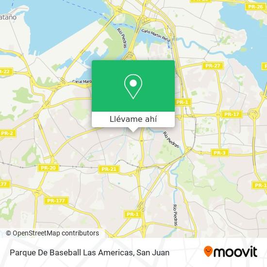 Mapa de Parque De Baseball Las Americas