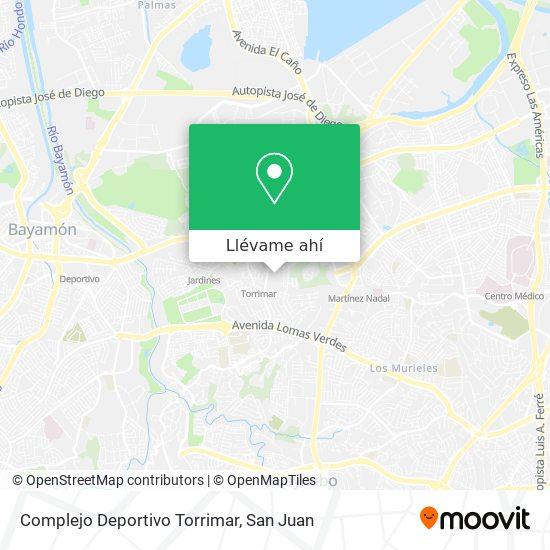 Mapa de Complejo Deportivo Torrimar
