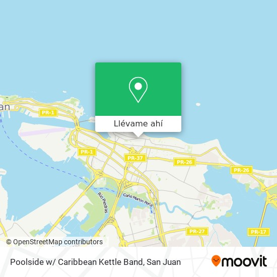 Mapa de Poolside w/ Caribbean Kettle Band