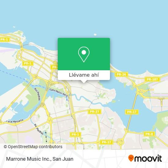Mapa de Marrone Music Inc.
