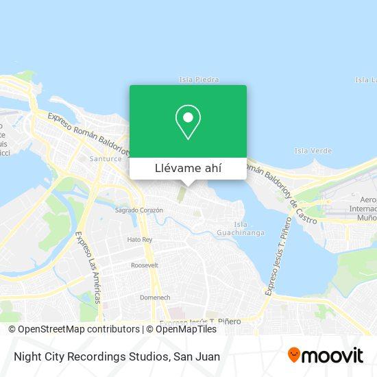 Mapa de Night City Recordings Studios