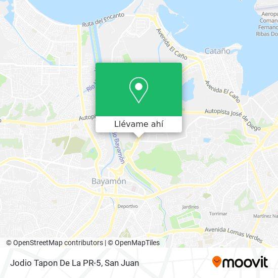 Mapa de Jodio Tapon De La PR-5