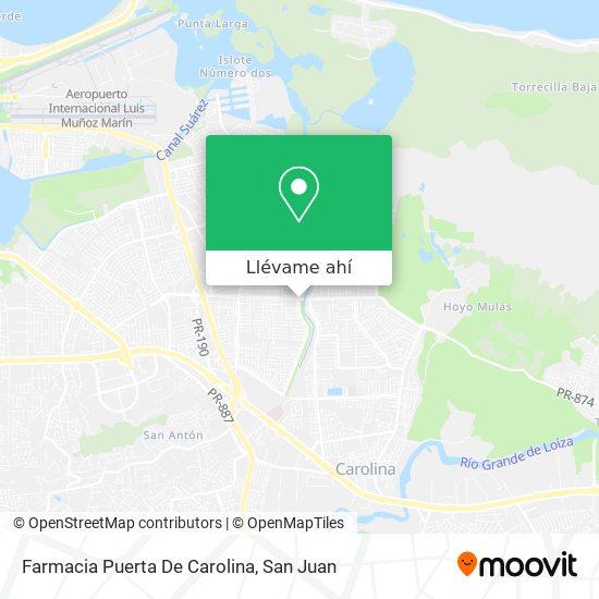 Mapa de Farmacia Puerta De Carolina