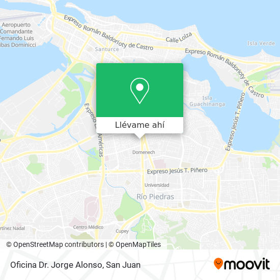Mapa de Oficina Dr. Jorge Alonso