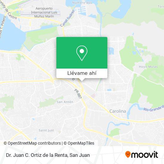 Mapa de Dr. Juan C. Ortiz de la Renta