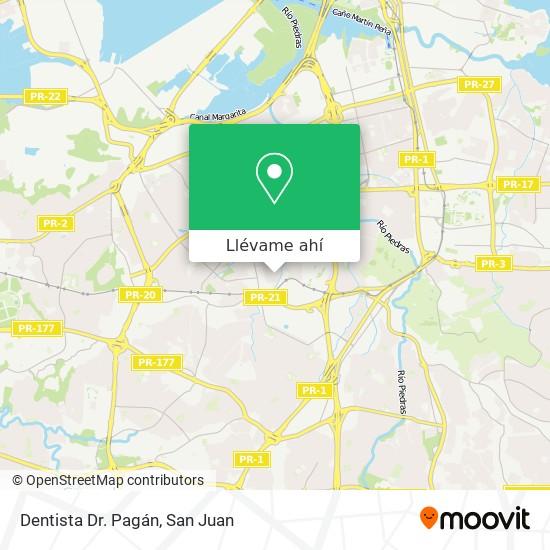 Mapa de Dentista Dr. Pagán