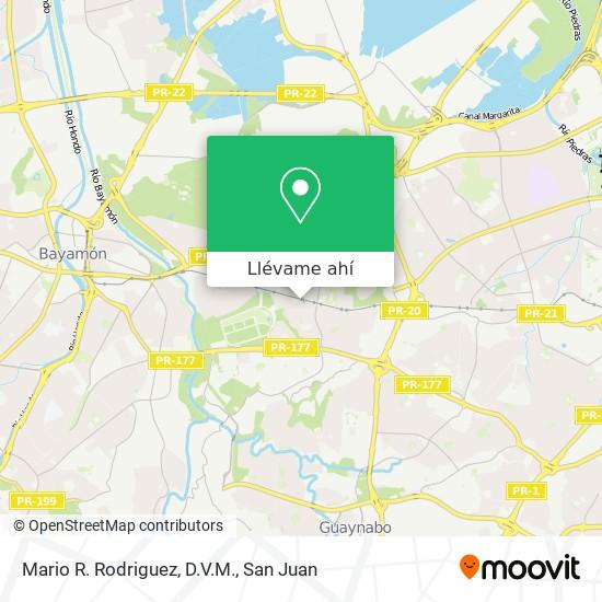 Mapa de Mario R. Rodriguez, D.V.M.