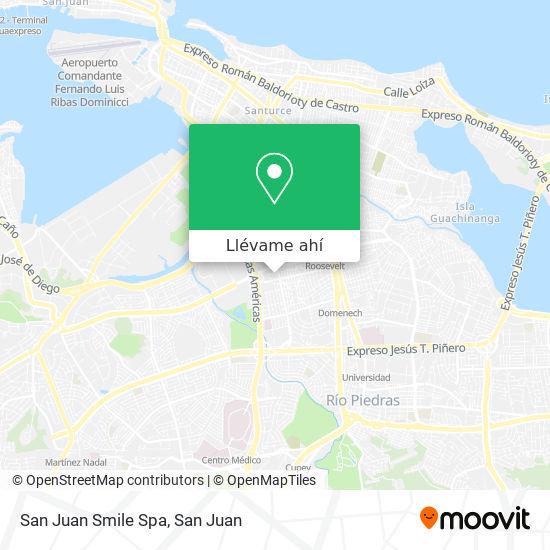 Mapa de San Juan Smile Spa