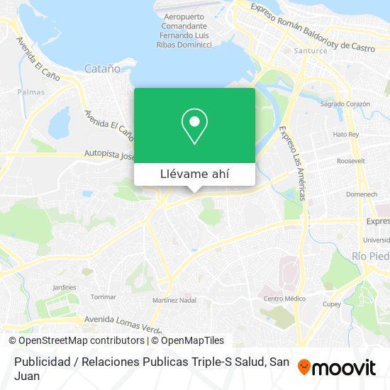 Mapa de Publicidad / Relaciones Publicas Triple-S Salud