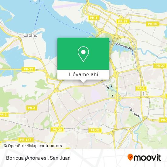 Mapa de Boricua ¡Ahora es!