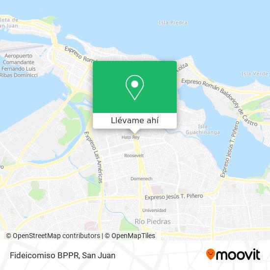 Mapa de Fideicomiso BPPR