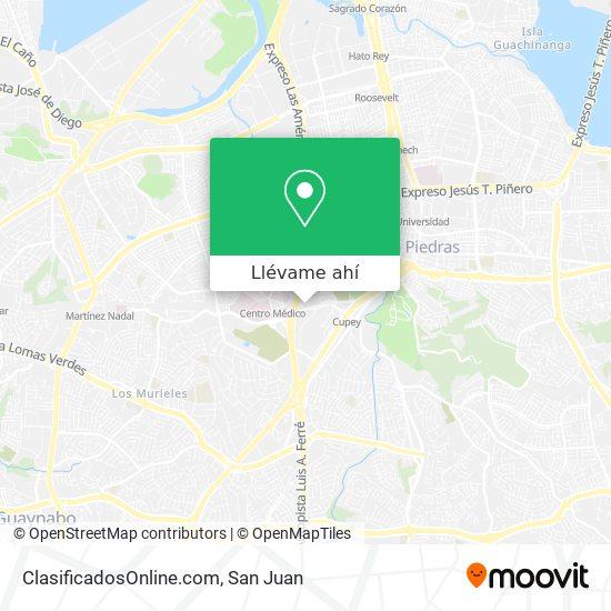 Mapa de ClasificadosOnline.com