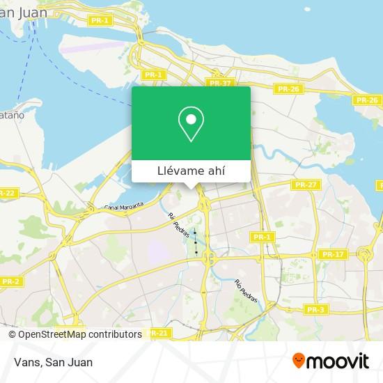 Mapa de Vans