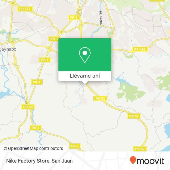 Mapa de Nike Factory Store