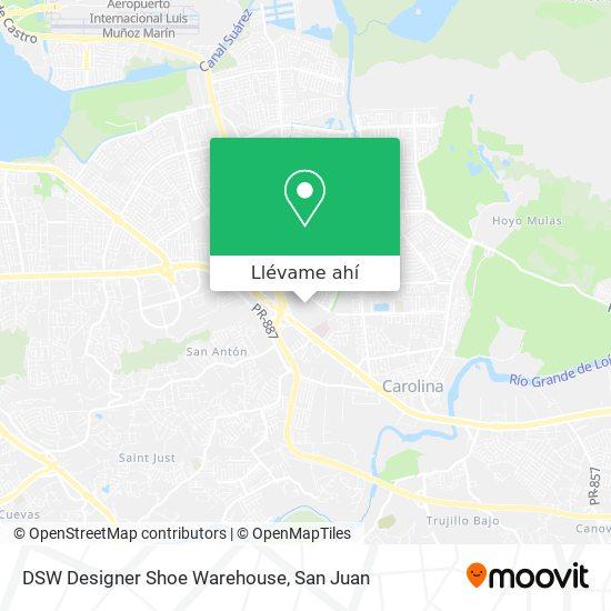 Mapa de DSW Designer Shoe Warehouse
