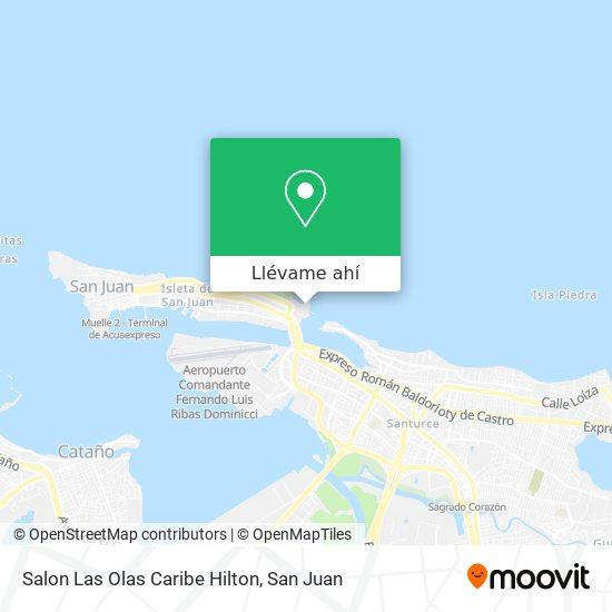 Mapa de Salon Las Olas Caribe Hilton