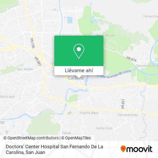 Mapa de Doctors' Center Hospital San Fernando De La Carolina