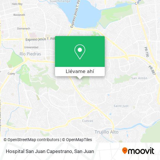 Mapa de Hospital San Juan Capestrano