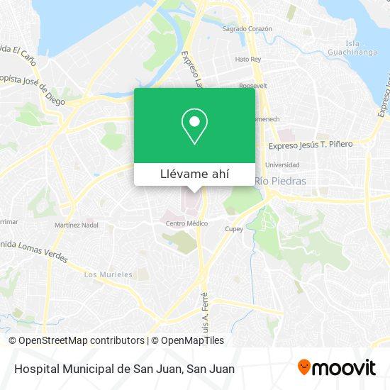 Mapa de Hospital Municipal de San Juan