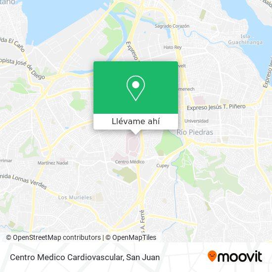 Mapa de Centro Medico Cardiovascular