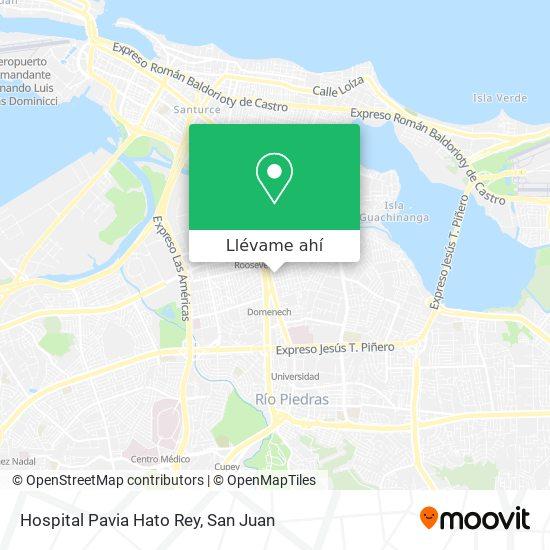 Mapa de Hospital Pavia Hato Rey