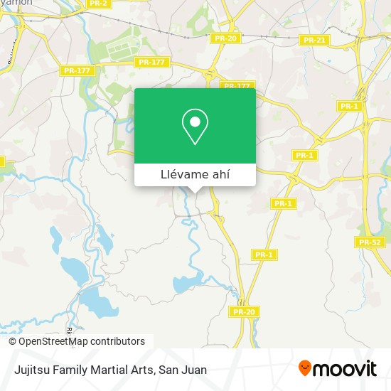 Mapa de Jujitsu Family Martial Arts