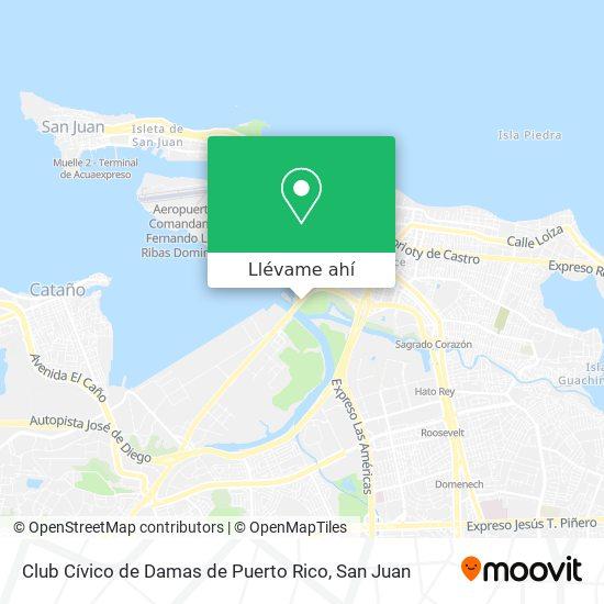 Mapa de Club Cívico de Damas de Puerto Rico