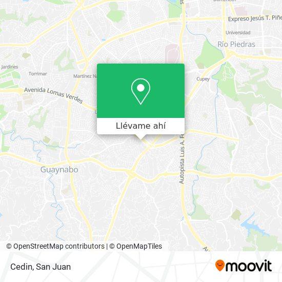 Mapa de Cedin