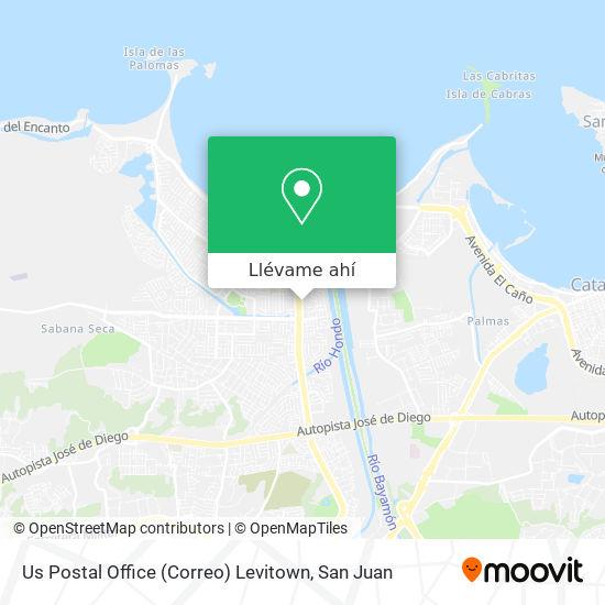 Mapa de Us Postal Office (Correo) Levitown