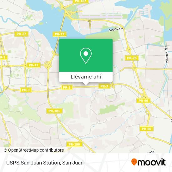 Mapa de USPS San Juan Station