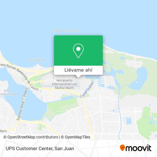 Mapa de UPS Customer Center