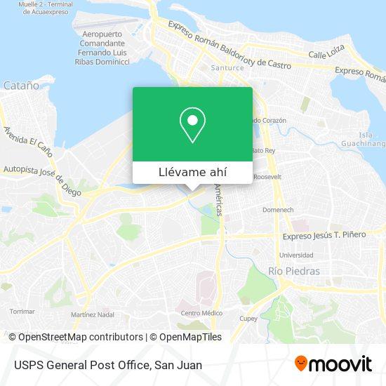 Mapa de USPS General Post Office