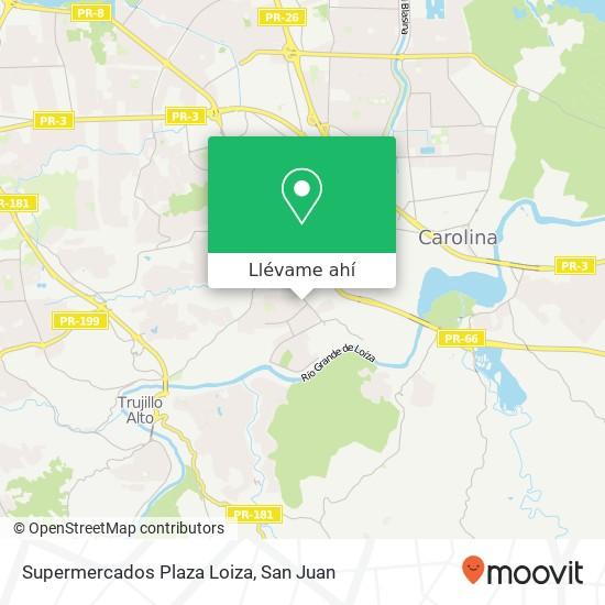 Mapa de Supermercados Plaza Loiza
