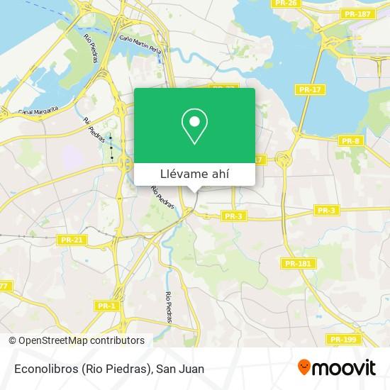 Mapa de Econolibros (Rio Piedras)