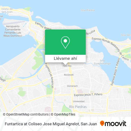 Mapa de Funtartica at Coliseo Jose Miguel Agrelot