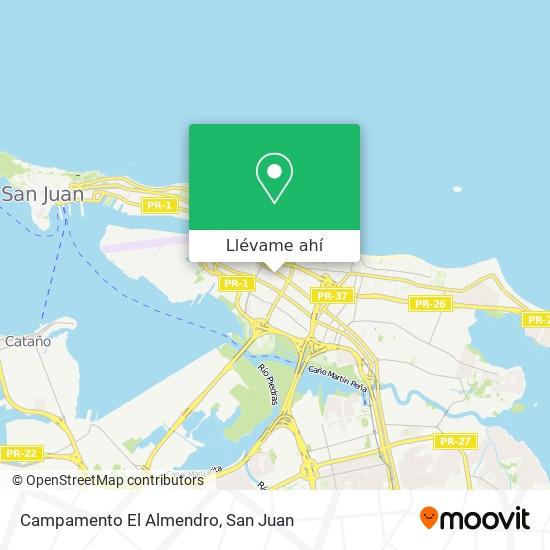 Mapa de Campamento El Almendro