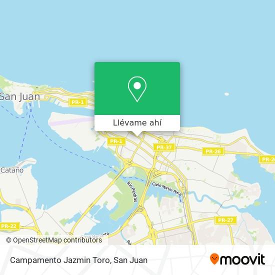 Mapa de Campamento Jazmin Toro