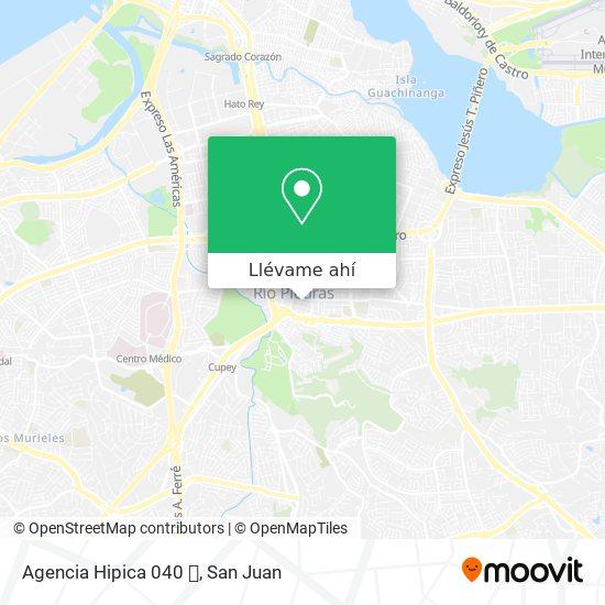 Mapa de Agencia Hipica 040 🏇