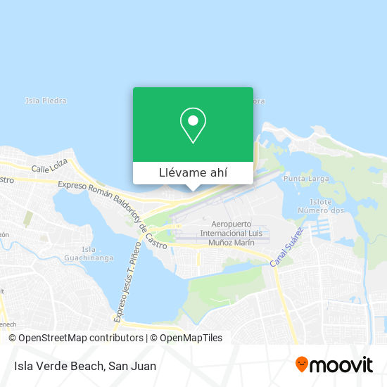 Mapa de Isla Verde Beach