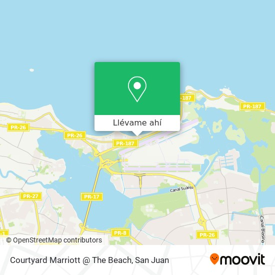 Mapa de Courtyard Marriott @ The Beach