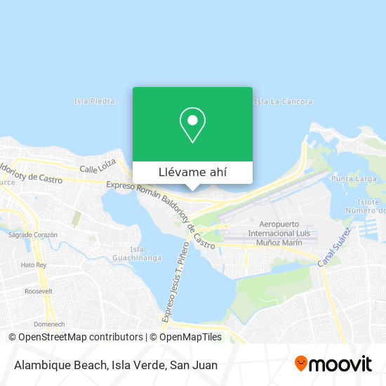 Mapa de Alambique Beach, Isla Verde