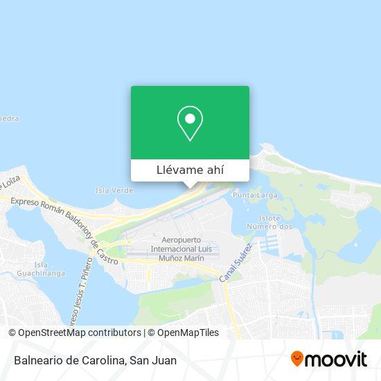 Mapa de Balneario de Carolina