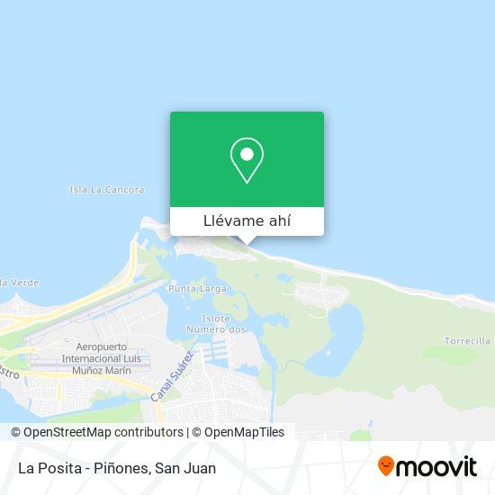 Mapa de La Posita - Piñones