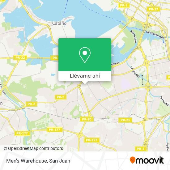Mapa de Men's Warehouse