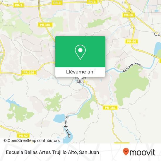Mapa de Escuela Bellas Artes Trujillo Alto