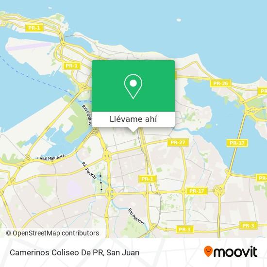 Mapa de Camerinos Coliseo De PR