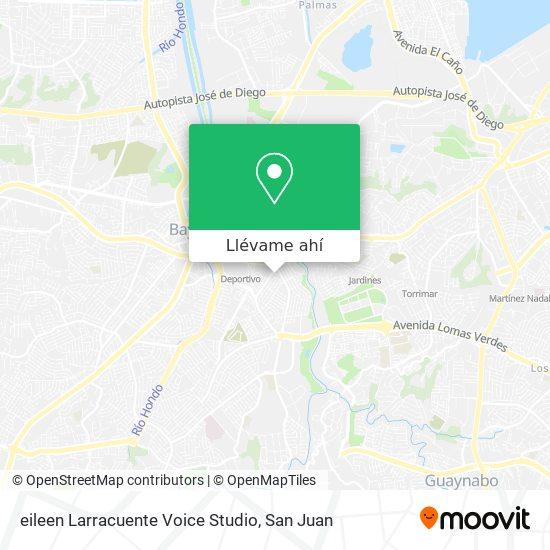Mapa de eileen Larracuente Voice Studio