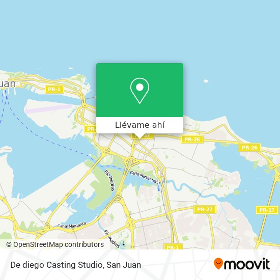 Mapa de De diego Casting Studio